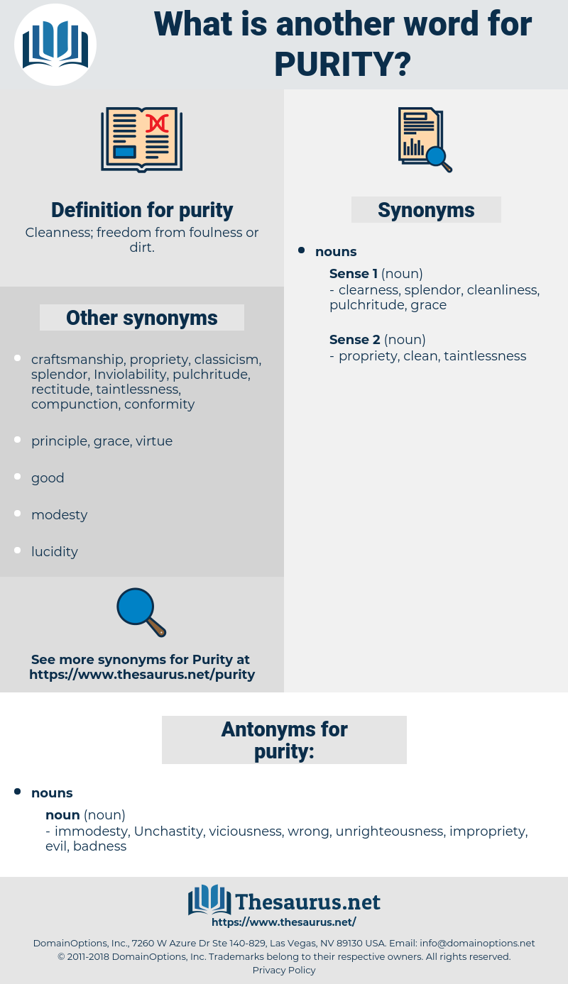 purity, synonym purity, another word for purity, words like purity, thesaurus purity