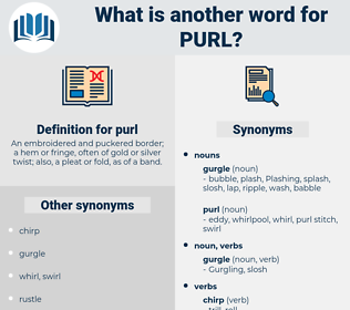 purl, synonym purl, another word for purl, words like purl, thesaurus purl