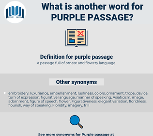 purple passage, synonym purple passage, another word for purple passage, words like purple passage, thesaurus purple passage