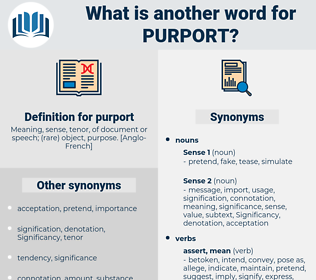purport, synonym purport, another word for purport, words like purport, thesaurus purport