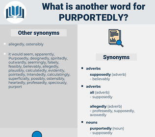 purportedly, synonym purportedly, another word for purportedly, words like purportedly, thesaurus purportedly