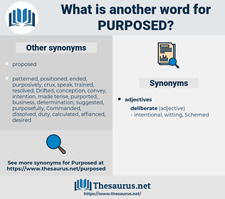 Purposed, synonym Purposed, another word for Purposed, words like Purposed, thesaurus Purposed