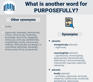 purposefully, synonym purposefully, another word for purposefully, words like purposefully, thesaurus purposefully