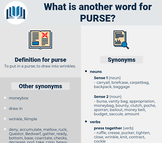 purse, synonym purse, another word for purse, words like purse, thesaurus purse