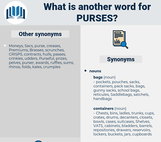 purses, synonym purses, another word for purses, words like purses, thesaurus purses