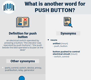push button, synonym push button, another word for push button, words like push button, thesaurus push button