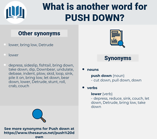 push down, synonym push down, another word for push down, words like push down, thesaurus push down