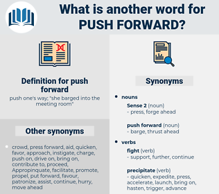 push forward, synonym push forward, another word for push forward, words like push forward, thesaurus push forward