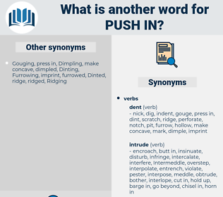 push in, synonym push in, another word for push in, words like push in, thesaurus push in