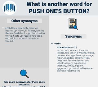 push one's button, synonym push one's button, another word for push one's button, words like push one's button, thesaurus push one's button