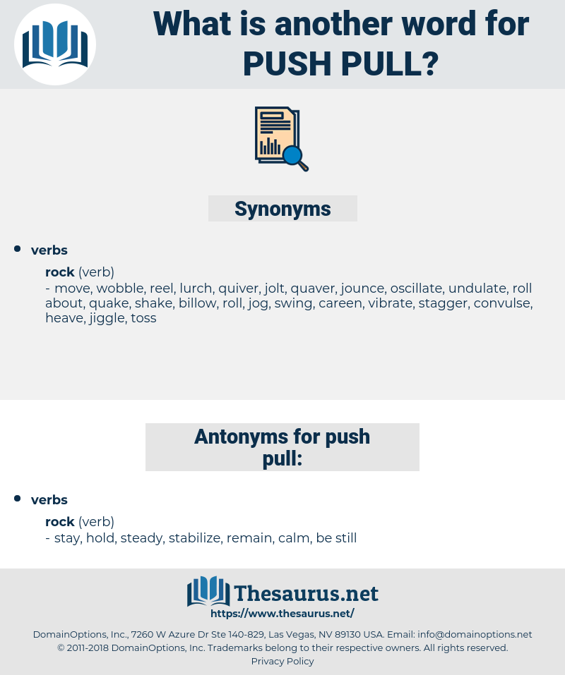 push pull, synonym push pull, another word for push pull, words like push pull, thesaurus push pull