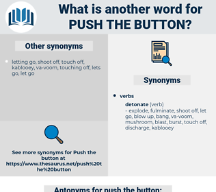 push the button, synonym push the button, another word for push the button, words like push the button, thesaurus push the button