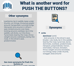 push the buttons, synonym push the buttons, another word for push the buttons, words like push the buttons, thesaurus push the buttons