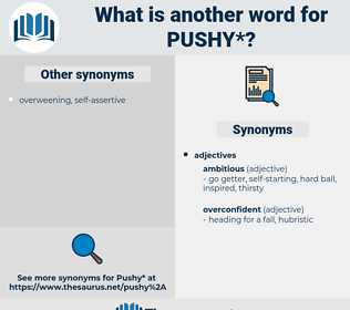 pushy, synonym pushy, another word for pushy, words like pushy, thesaurus pushy