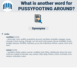 pussyfooting around, synonym pussyfooting around, another word for pussyfooting around, words like pussyfooting around, thesaurus pussyfooting around