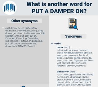 put a damper on, synonym put a damper on, another word for put a damper on, words like put a damper on, thesaurus put a damper on