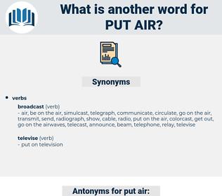 put air, synonym put air, another word for put air, words like put air, thesaurus put air
