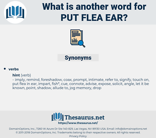 put flea ear, synonym put flea ear, another word for put flea ear, words like put flea ear, thesaurus put flea ear