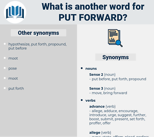 put forward, synonym put forward, another word for put forward, words like put forward, thesaurus put forward