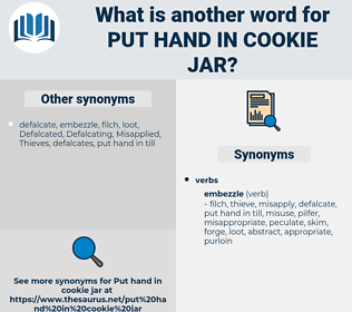 put hand in cookie jar, synonym put hand in cookie jar, another word for put hand in cookie jar, words like put hand in cookie jar, thesaurus put hand in cookie jar