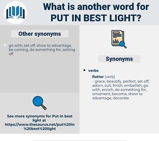 put in best light, synonym put in best light, another word for put in best light, words like put in best light, thesaurus put in best light