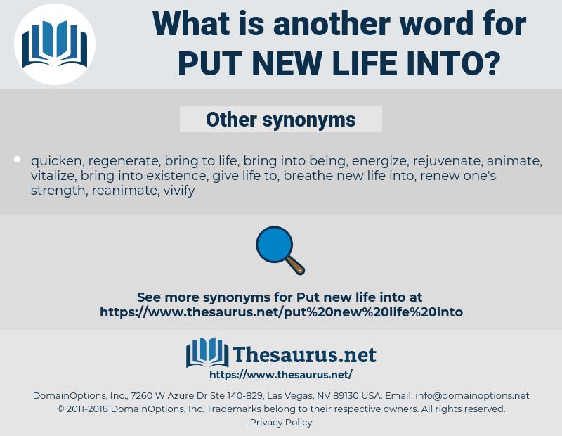put new life into, synonym put new life into, another word for put new life into, words like put new life into, thesaurus put new life into