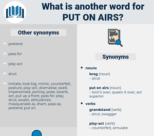 put on airs, synonym put on airs, another word for put on airs, words like put on airs, thesaurus put on airs