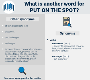 put on the spot, synonym put on the spot, another word for put on the spot, words like put on the spot, thesaurus put on the spot