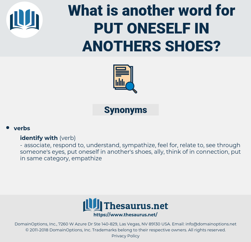put oneself in anothers shoes, synonym put oneself in anothers shoes, another word for put oneself in anothers shoes, words like put oneself in anothers shoes, thesaurus put oneself in anothers shoes