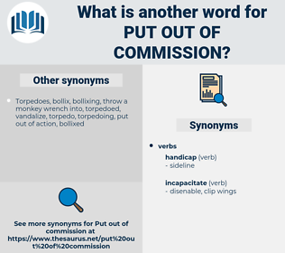 put out of commission, synonym put out of commission, another word for put out of commission, words like put out of commission, thesaurus put out of commission