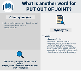 put out of joint, synonym put out of joint, another word for put out of joint, words like put out of joint, thesaurus put out of joint