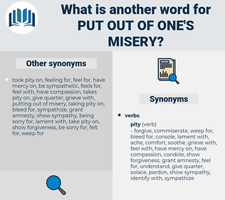 put out of one's misery, synonym put out of one's misery, another word for put out of one's misery, words like put out of one's misery, thesaurus put out of one's misery
