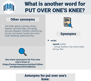 put over one's knee, synonym put over one's knee, another word for put over one's knee, words like put over one's knee, thesaurus put over one's knee