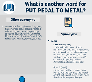 put pedal to metal, synonym put pedal to metal, another word for put pedal to metal, words like put pedal to metal, thesaurus put pedal to metal
