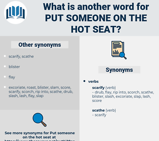put someone on the hot seat, synonym put someone on the hot seat, another word for put someone on the hot seat, words like put someone on the hot seat, thesaurus put someone on the hot seat
