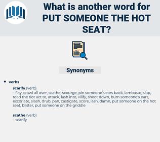 put someone the hot seat, synonym put someone the hot seat, another word for put someone the hot seat, words like put someone the hot seat, thesaurus put someone the hot seat