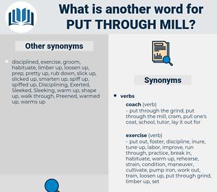 put through mill, synonym put through mill, another word for put through mill, words like put through mill, thesaurus put through mill