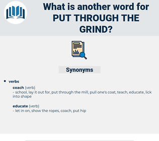 put through the grind, synonym put through the grind, another word for put through the grind, words like put through the grind, thesaurus put through the grind