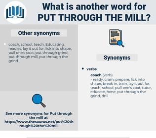 put through the mill, synonym put through the mill, another word for put through the mill, words like put through the mill, thesaurus put through the mill