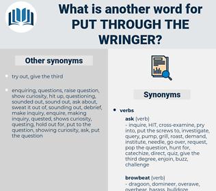 put through the wringer, synonym put through the wringer, another word for put through the wringer, words like put through the wringer, thesaurus put through the wringer