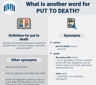 put to death, synonym put to death, another word for put to death, words like put to death, thesaurus put to death