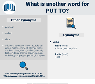 put to, synonym put to, another word for put to, words like put to, thesaurus put to