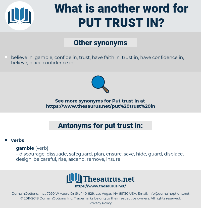 put trust in, synonym put trust in, another word for put trust in, words like put trust in, thesaurus put trust in