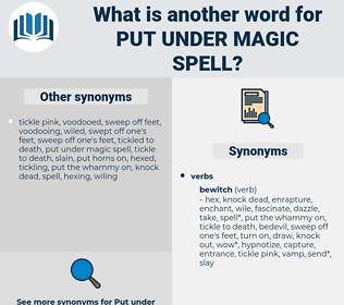 put under magic spell, synonym put under magic spell, another word for put under magic spell, words like put under magic spell, thesaurus put under magic spell