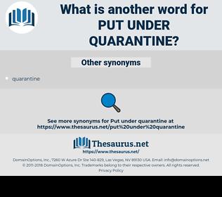 put under quarantine, synonym put under quarantine, another word for put under quarantine, words like put under quarantine, thesaurus put under quarantine