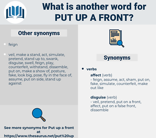 put up a front, synonym put up a front, another word for put up a front, words like put up a front, thesaurus put up a front