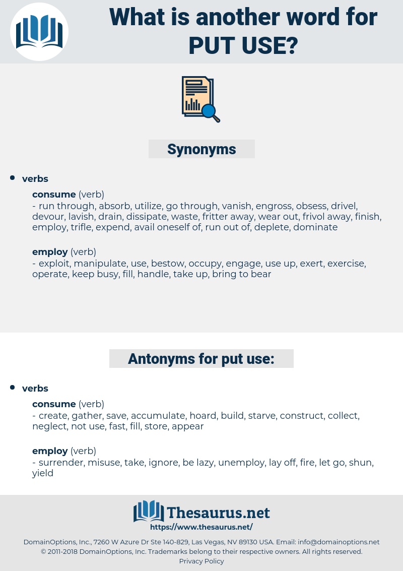 put use, synonym put use, another word for put use, words like put use, thesaurus put use