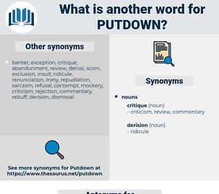 putdown, synonym putdown, another word for putdown, words like putdown, thesaurus putdown