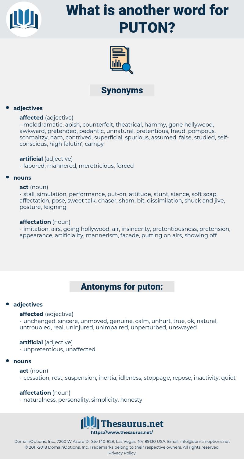 puton, synonym puton, another word for puton, words like puton, thesaurus puton