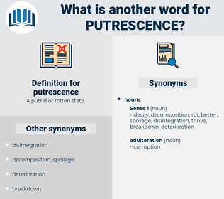 putrescence, synonym putrescence, another word for putrescence, words like putrescence, thesaurus putrescence